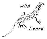 蜥蜴纹身花刺部族通配 库存图片