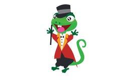 蜥蜴魔术师 免版税库存照片