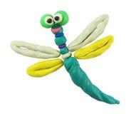 蜻蜓彩色塑泥 库存照片