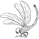 蜻蜓纹身花刺 库存例证