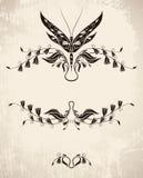蜻蜓装饰图案 免版税库存照片