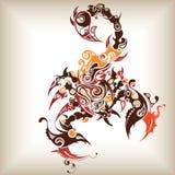 蝎子纹身花刺 免版税图库摄影