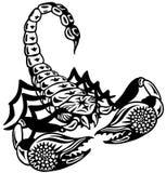 蝎子黑白色 免版税库存照片