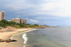 蝙蝠鱼(恶魔)海滩, Arpoador,里约热内卢 免版税库存照片