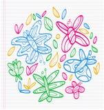 蝴蝶五颜六色的图画  免版税库存照片