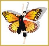 蝴蝶人 库存图片