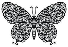 蝴蝶例证我的对向量欢迎的投资组合 免版税库存图片