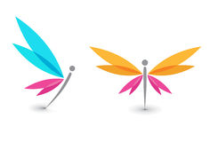 蝴蝶图标 皇族释放例证