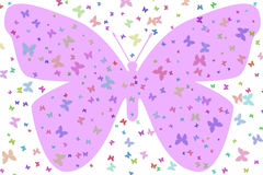 蝴蝶大紫色 库存例证