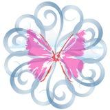 蝴蝶天空 免版税库存图片