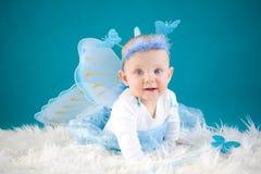 蝴蝶婴孩 库存照片
