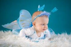 蝴蝶婴孩 库存图片
