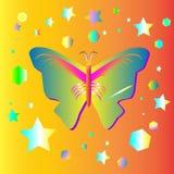 蝴蝶幻想图形设计 库存照片