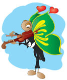 蝴蝶弹了小提琴 库存照片