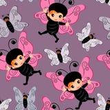 蝴蝶服装无缝的例证背景 免版税库存图片