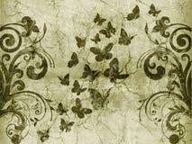 蝴蝶样式葡萄酒 免版税库存图片
