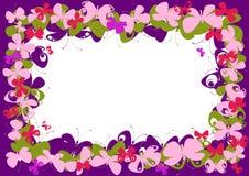 蝴蝶框架粉红色 免版税库存图片