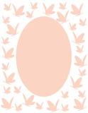 蝴蝶框架粉红色 库存照片