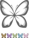 蝴蝶符号 库存图片