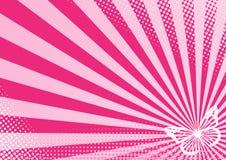 蝴蝶粉红色 库存图片