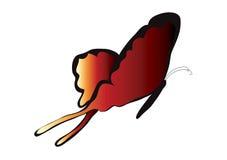 蝴蝶红色 皇族释放例证