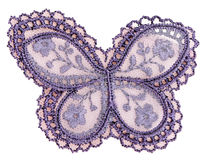 蝴蝶织品模式 免版税库存照片