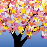 蝴蝶结构树 库存例证