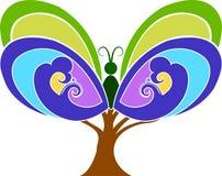 蝴蝶结构树 向量例证