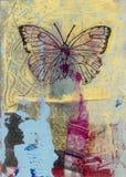 蝴蝶绘画 皇族释放例证