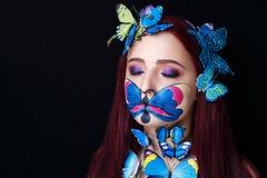 蝴蝶艺术组成 库存图片