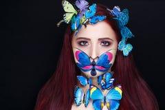 蝴蝶艺术组成 库存照片
