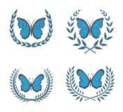 蝴蝶花圈 库存图片