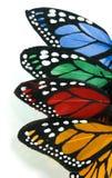 蝴蝶被留下的栈垂直 免版税图库摄影