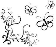 蝴蝶装饰品 图库摄影