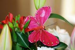 蝴蝶装饰婚礼 库存图片