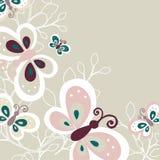 蝴蝶设计可爱的模式 库存例证