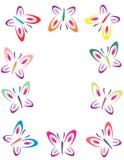 蝴蝶颜色框架 库存照片