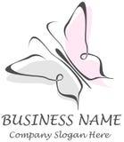 蝴蝶-公司名称,口号。 库存图片