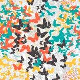 蝴蝶 模式无缝的向量 库存照片