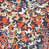 蝴蝶 模式无缝的向量 图库摄影