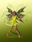 蝴蝶fae绿色 库存照片