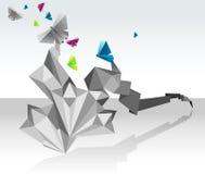 蝴蝶origami 库存图片