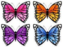 蝴蝶传染媒介例证集合 免版税图库摄影