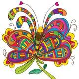 蝴蝶位置花 库存图片