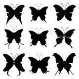 蝴蝶剪影 向量例证