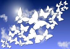 蝴蝶和天空 皇族释放例证
