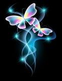 蝴蝶和星 库存例证
