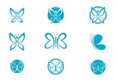 蝴蝶商标模板 库存例证