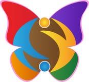 蝴蝶商标 库存例证