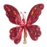 蝴蝶圣诞树装饰品 库存图片